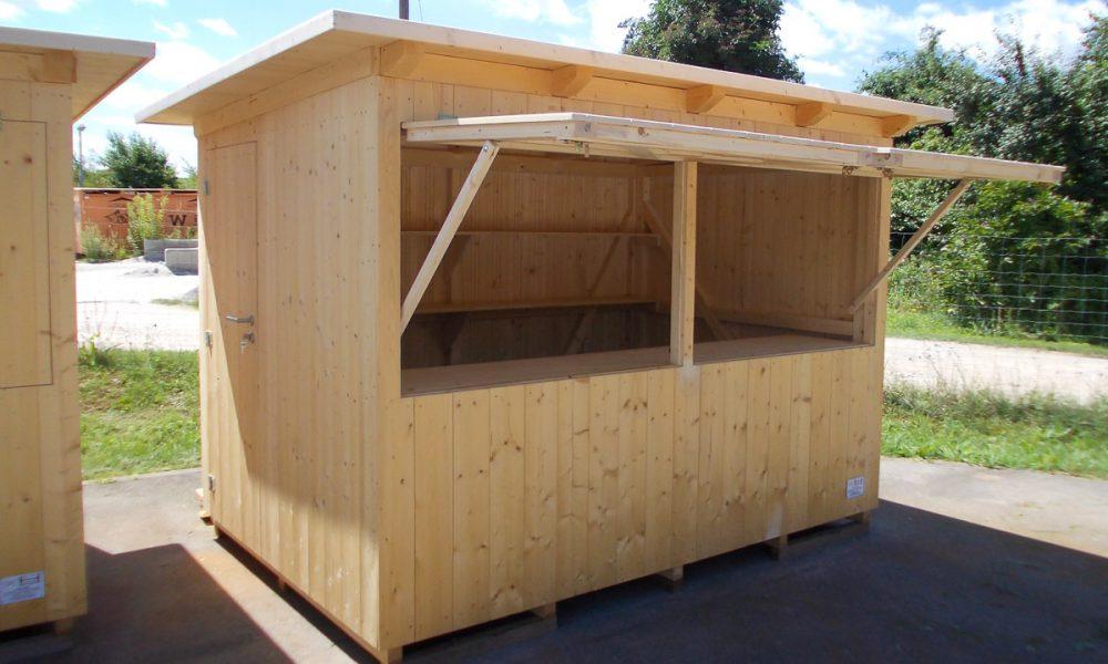 Verkaufsbuden / Holzhütten / Gartenhütten